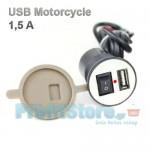 Κιτ Παροχής Ρεύματος Μοτοσυκλέτας με Θύρα USB & Βάση Στήριξης