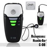 Επαναφορτιζόμενα Ακουστικά Ενίσχυσης Ακοής & Βοήθημα Βαρηκοΐας Mini Pocket C08 - 139dΒ