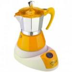 Ηλεκτρική ιταλική καφετιέρα εσπρέσο από αλουμίνιο GAT 603804 YELLOW FELECTRICA NERISSIMA