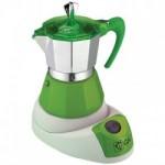 Ηλεκτρική ιταλική καφετιέρα εσπρέσο από αλουμίνιο GAT 603804  GREEN FELECTRICA NERISSIMA