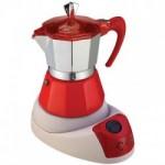 Ηλεκτρική ιταλική καφετιέρα εσπρέσο από αλουμίνιο GAT 603804 RED FELECTRICA NERISSIMA