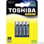 Μπαταρίες Αλκαλικές TOSHIBA Alkaline AAA / LR03 BP4SS 4 τεμάχια