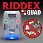 Πολύ Ισχυρή Συσκευή Απώθησης Τρωκτικών & Εντόμων RIDDEX QUAD 200m2