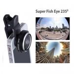 Φακός για Κάμερα Κινητών και Tablet Super Fisheye 235 μοίρες