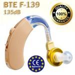Ακουστικά Ενίσχυσης Ακοής & Βοήθημα Βαρηκοίας BTE F-139s - 135db