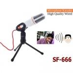 Πυκνωτικό Μικρόφωνο Ηχογραφήσεων με Τρίποδο για Υπολογιστή SF-666