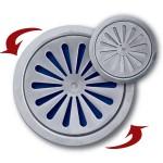 Ανοξείδωτη Σχάρα Δαπέδου Ασφαλείας για Σιφώνια 12 cm Φ9,5 cm