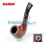 Πίπα Καπνού με Μεταλλικό Καυστήρα & Μηχανικό Φίλτρο Sanda MI