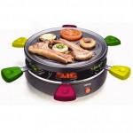 Στρογγυλή Γκριλιέρα Raclette  Με Αντικολλητική Πλάκα Γκριλ & 6 Αντικολλητικά Μικρά Τηγάνια