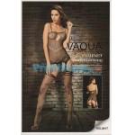 Ολόσωμο Σέξι Καλσόν Δίχτυ με Ζαρτιέρα και Σχέδιο με Νεκροκεφαλή - Sexy Lingerie Bodystocki