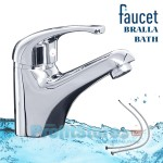 Μπαταρία Νιπτήρα Μπάνιου Αναμεικτική - Faucet Bralla Bath