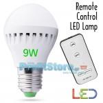Τηλεχειριζόμενη LED Λάμπα Οικονομίας Ε27 – 9 Watt