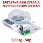 Εργαστηριακή Ψηφιακή Ζυγαριά Υπερυψηλής Ακριβείας 0,001gr - 50gr Fuzion MH-03B