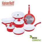 Σετ Μαγειρικά Σκεύη KAISERHOFF 9 τεμαχίων με Κεραμική Επίστρωση KH-1596
