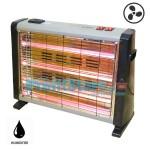 Θερμάστρα Χαλαζία με Ανεμιστήρα & Υγραντήρα 1500W Luxell Lx-2820