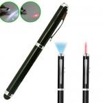 Πενάκι Γραφίδα Stylus Touch Pen 4 σε 1 με Στυλό, Φακό LED & Laser Pointer