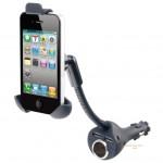Περιστρεφόμενη Βάση Κινητού για τον Αναπτήρα του Αυτοκίνητου με 2 θύρες USB