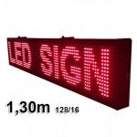Ηλεκτρονική Πινακίδα Κυλιόμενη Επιγραφή LED 130cm με Ελληνικούς Χαρακτήρες RED