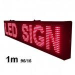 Ηλεκτρονική Πινακίδα Κυλιόμενη Επιγραφή LED 100cm με Ελληνικούς Χαρακτήρες RED