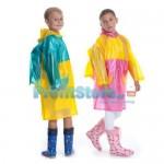 Παιδικό Αδιάβροχο με Θήκη για την Σχολική Τσάντα σε Χαρούμενα Χρώματα