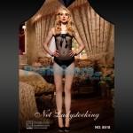 Διχτυωτό Σέξι Κορμάκι Στράπλες με Φιόγκο στο Μπούστο 8818 - Sexy Lingerie Bodystockings