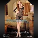 Σέξι Μίνι Φόρεμα Σιθρού με Μανίκια και Σχέδιο Λεοπάρ 8840 - Sexy Lingerie Bodystockings