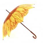 Ομπρέλα Μπαστούνι Άριστης Ποιότητας 88 εκ. με Μοτίβο Sun Flower