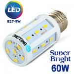 Λαμπτήρας Οικονομίας LED Υψηλής Φωτεινότητας Corn XPower E27-5W