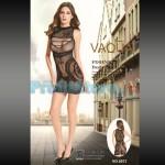 Σέξι Μίνι Φόρεμα Δίχτυ με Σχέδια & Σκισίματα στο Μπούστο 8973 - Sexy Lingerie Bodystocking