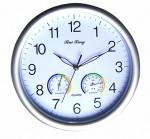 Ρολόι Τοίχου 30 cm με Υγρόμετρο και Θερμόμετρο GCC QU30R