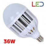 Λάμπα Γίγας LED E27 36W με Ψήκτρα από Κράμα Αλουμινίου - Ψυχρό Φως