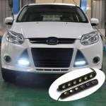 Εύκαμπτα Φώτα Ημέρας Αυτοκινήτου Slim High Power Lens LED DRL - Σετ 2 τεμαχίων