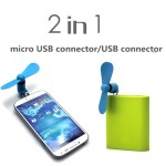 Μίνι Ανεμιστηράκι USB/mUSB για Κινητά Τηλέφωνα & Powerbanks