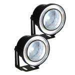 Στρογγυλά Προβολάκια Ομίχλης LED COB DRL - Φώτα Ημέρας Αυτοκινήτου - Σετ 2 τεμαχίων