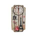 Μεγάλο Ξύλινο Ρολόι Τοίχου Quartz Paris 2216