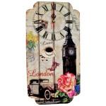 Μεγάλο Ξύλινο Ρολόι Τοίχου Quartz London 2217