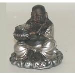 Καθιστός Χαμογελαστός Βούδας, Αntique Αισθητικής, με Αγγείο Νομισμάτων