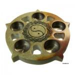 Κηροπήγιο από Σαπουνόπετρα με Σύμβολο Yin-Yang