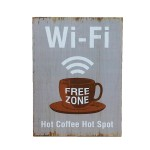 Διακοσμητική Ξύλινη Πινακίδα (30Χ40cm) Coffee Hot Spot