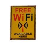 Διακοσμητική Ξύλινη Πινακίδα (30Χ40cm) Free Wifi
