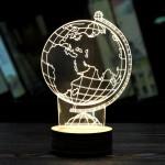 Διακοσμητικό Τρισδιάστατο Φωτιστικό LED Υδρόγειος - 3D Creative Light Globe