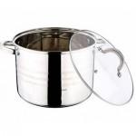 Κατσαρόλα 20cm με Γυάλινο Καπάκι από Ανοξείδωτο Ατσάλι 4.3L-Gourmet Line-Blaumann BL-1008