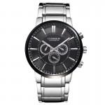 Ανδρικό Ρολόι CURREN M8001 Silver & Black
