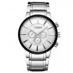 Ανδρικό Ρολόι CURREN M8001 Silver & White