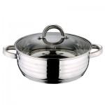 Κατσαρόλα ρηχή 24cm με πάτο Induction και γυάλινο καπάκι Gourmet Line Blaumann BL-1003