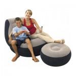 Πολυθρόνα Πουφ Βελούδινη Ultra Lounge 99x130x76cm Intex-68564