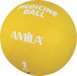 Μπάλα Ασκήσεων Ιατρική Plain Medicine Ball 1Kg Amila-44551