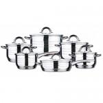 Σετ ανοξείδωτων μαγειρικών σκευών 12 τεμάχια- Blaumann BL-1410