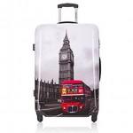 Βαλίτσα Καμπίνας ABS με Τηλεσκοπικό Χερούλι, Ροδάκια & Κλείδωμα Ασφαλείας London Μ60