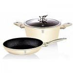 Σετ Μαγειρικά Σκεύη 3τεμ σε Shining Cream χρώμα Metallic -Berlinger Haus BH-1286